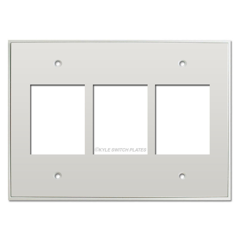 Touch Plate Classic 3 Gang Low Voltage Switch Plate White