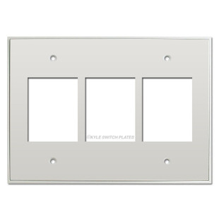 Touch Plate Classic 3 Gang Low Voltage Switch Plate - White