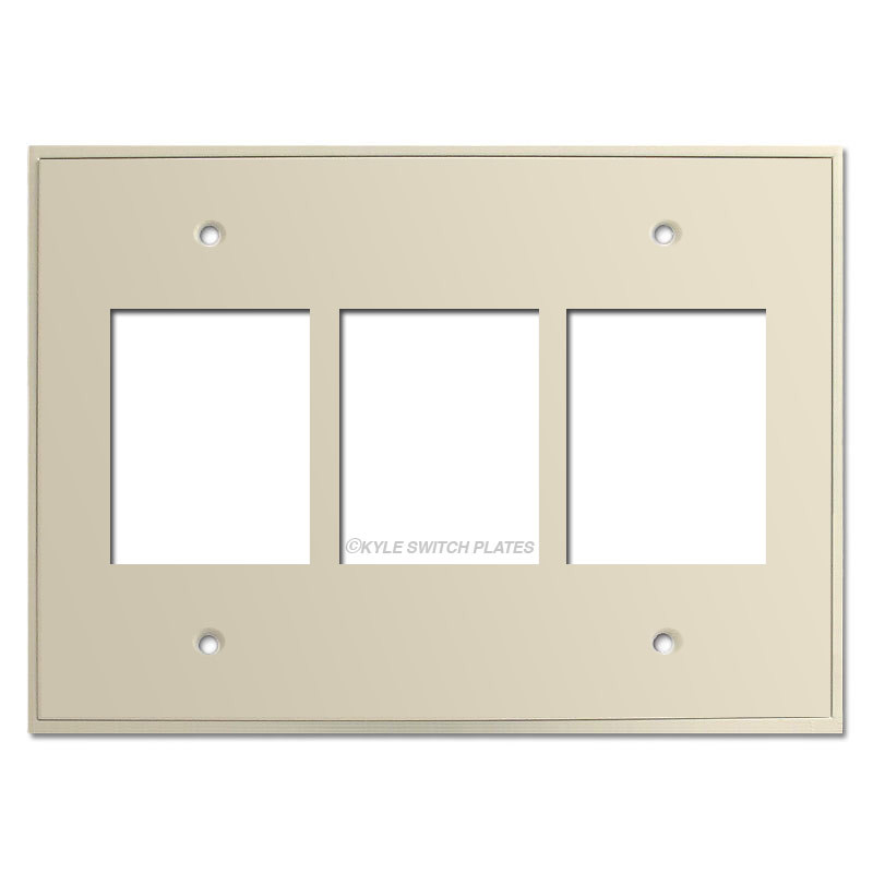 Low Voltage Faceplate : Touch plate classic low voltage triple wall covers