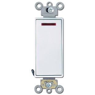 Decora Rocker Pilot Light Switch 20A White Leviton 5628