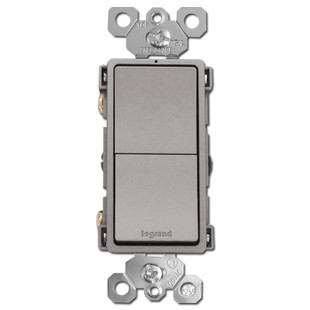 Nickel Stacked Rocker Switches Single Pole Or 3 Way Dual