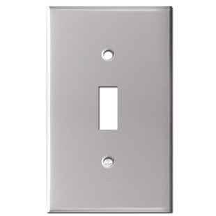 1 Switch Toggle Wall Plate Cover - Polished Stainless Steel