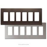 6 Decor Screwless Wall Switchplate Covers - Metallic Plastic