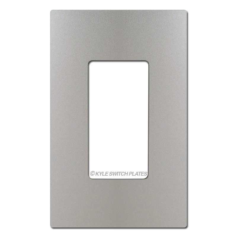 Nickel Screwless Wall Switch Plate Cover Plastic 1 Gang Legrand