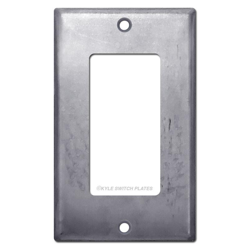 Rocker Light Switch >> 1 Rocker Light Switch Cover Raw Steel Paintable