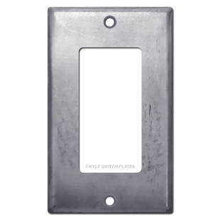 1 Rocker Light Switch Cover - Raw Steel Paintable