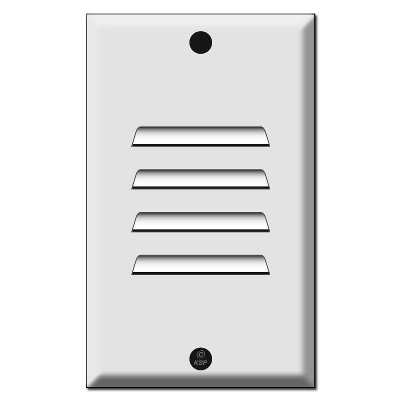 Led Light Fixture With Switch: Vertical Louver For LED Fixture