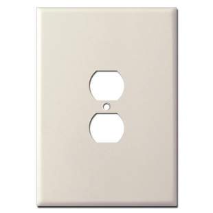 """Ultra Oversized Outlet Cover in 7.5"""" Tall Size - Light Almond"""