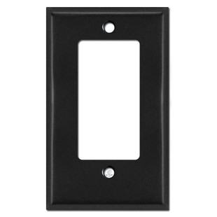Half Short Decorator Receptacle Switchplate Cover - Black