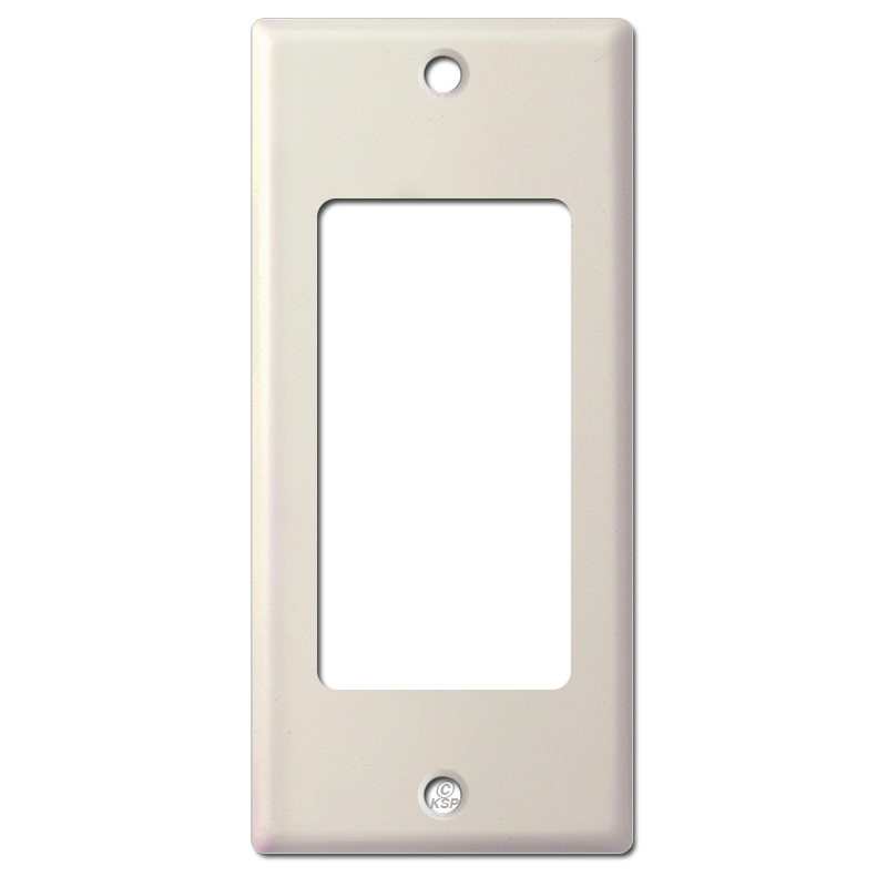 2 Narrow Trimmed Decor Light Switch Cover Light Almond