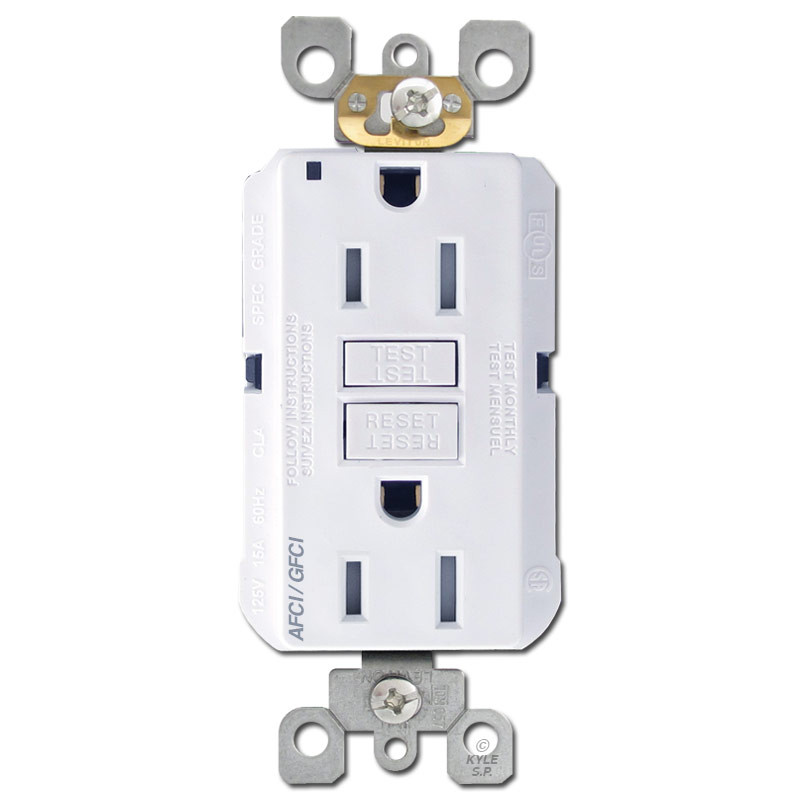 Afci Gfci Safety Outlets 15a Tr Leviton