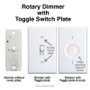 This dimmer pairs with toggle plate.