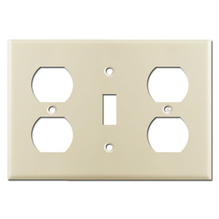 Receptacle Toggle Receptacle Cover Wall Plate - Ivory