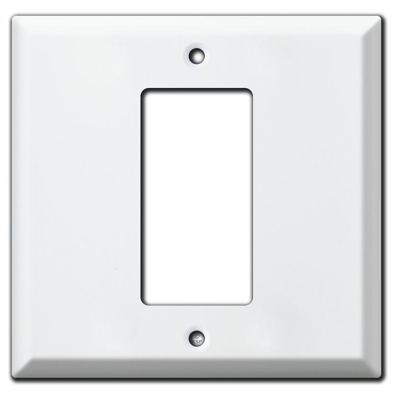 Rocker Light Switch >> Deep Center 1 Gfi Decora Rocker Light Switch Cover White