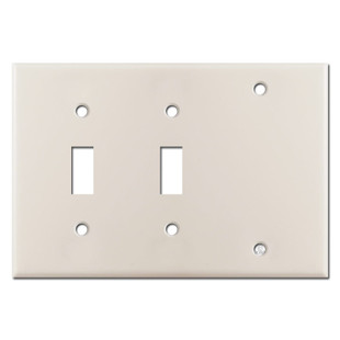 Blank Toggle Toggle Electrical Switch Cover - Light Almond