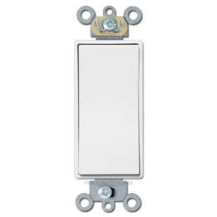 Low Voltage Decora Rocker Switch 24V 3A Momentary - White