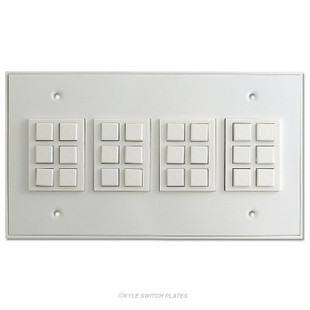 Touch Plate Classic 24 Button Low Voltage Light Switch - White