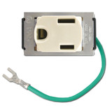 Despard Small Receptacle Plugs 15A + Ground Wire - Ivory