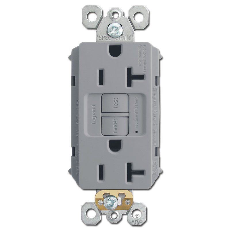 Gray 20a Gfci Outlet Kyle Switch Plates