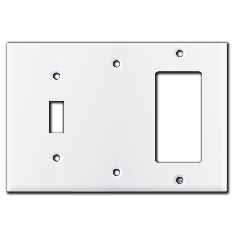 Toggle Rocker 3 Gang Wall Switch Cover White Kyle Switch Plates