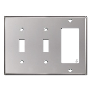 1 Decora 2 Toggle Switchplate - Polished Stainless Steel