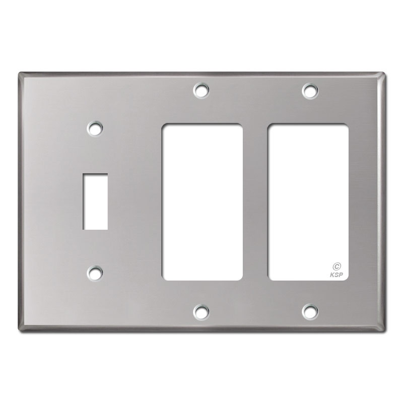 2 Decora Gfci 1 Toggle Wall Plate Polished Stainless Steel Spvk Q 58871149823824312801280c2