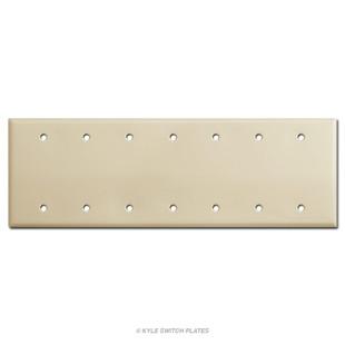 7 Blank Electrical Trim Plate - Ivory