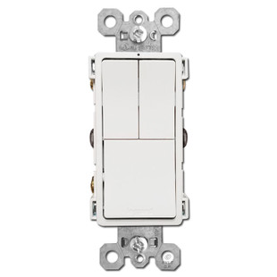 Stacked 3 Switches Dual S/P + Single Pole or 3-Way - White on 3 way relay switch, 3 way switch terminals, 3 way install, 3 way light, 3 way switch schematic, 3 way sensor switch, 3 way switch outlet, 3 way parts, 3 way pull chain, 3 way switch connections, 3 way switch receptacle, 3 way fuse, 3 way switch operation, 3 way switch screws, 3 way switch wire, 3 way switch circuits, 3 way switch installation, 3 way switch trim, 3 way switch configuration, 3 way switch fans,