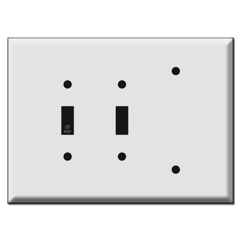 Oversized 2 Toggle 1 Blank Electrical Wall Switch Plates
