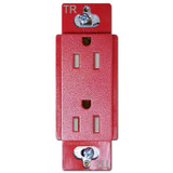 Satin Red Decor Outlet 15A Tamper Resistant - Lutron Claro Hot