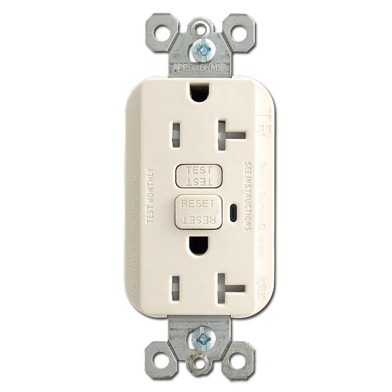 Light Almond 20 Amp GFCI Tamper Resistant Receptacle Outlets
