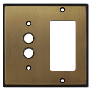 1 Decora 1 Push Button Light Switch Cover - Antique Brass