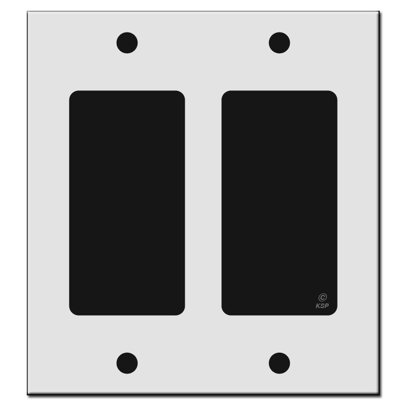 "4 Inch Decorative Wall Plates Captivating 4.19"" Narrow Trim 2 Decor Rocker Outlet Plates  Kyle Switch Plates Inspiration Design"