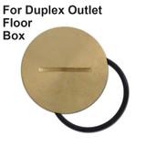 Leviton Replacement Cap for Duplex Outlet Floor Box