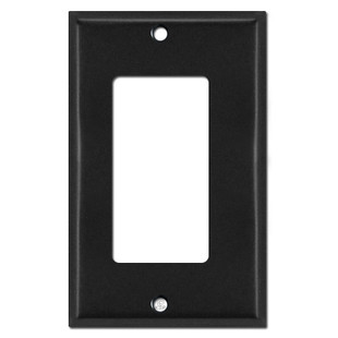 Narrow 1/8'' Offset Trim Decor Outlet Switch Wallplate - Black