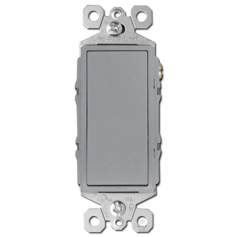 4 Way Decor Rocker Light Switch Gray Kyle Switch Plates
