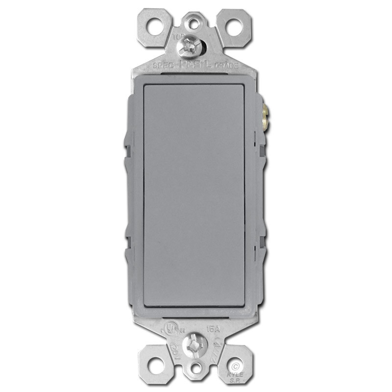 4 Way Decor Rocker Light Switch Gray Kyle Switch Plates - 4 Way Rocker Light Switch