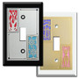 Color Block Switch Plates with 2 Decorative Designs