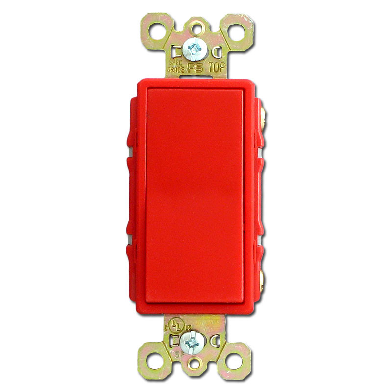 Red 4 Way 20A Decorator Rocker Switch Pass Seymour 2624 - 4 Way Rocker Light Switch