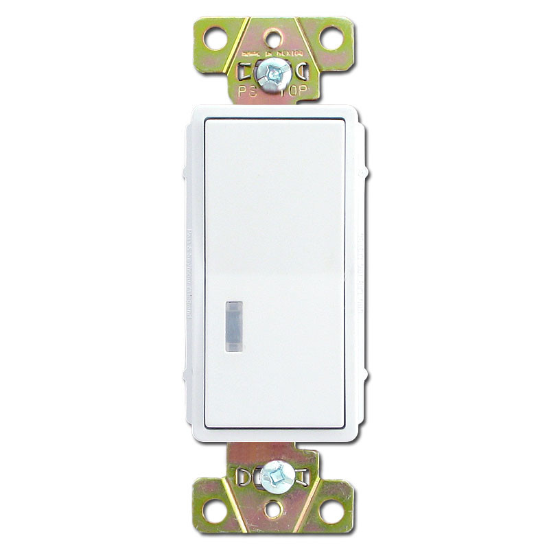 White 20A Pilot Light Decorator Rocker Switch Pass Seymour 2629
