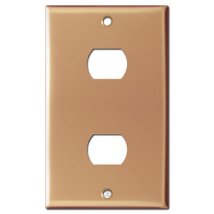 2 Despard Electrical Stacked Switch Plate - Polished Copper