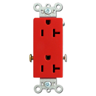 Red 20A Outlet Specification Grade