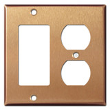 Combo Outlet Decor Switch Wall Plate - Brushed Copper