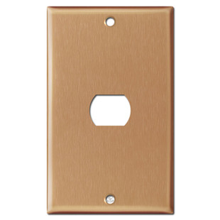 1 Despard Electric Light Switch Plate - Brushed Copper
