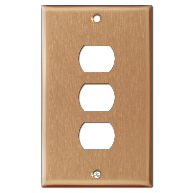 Switch Face Plate Endearing Despard Stacked Switch Face Plate  Brushed Copper Review
