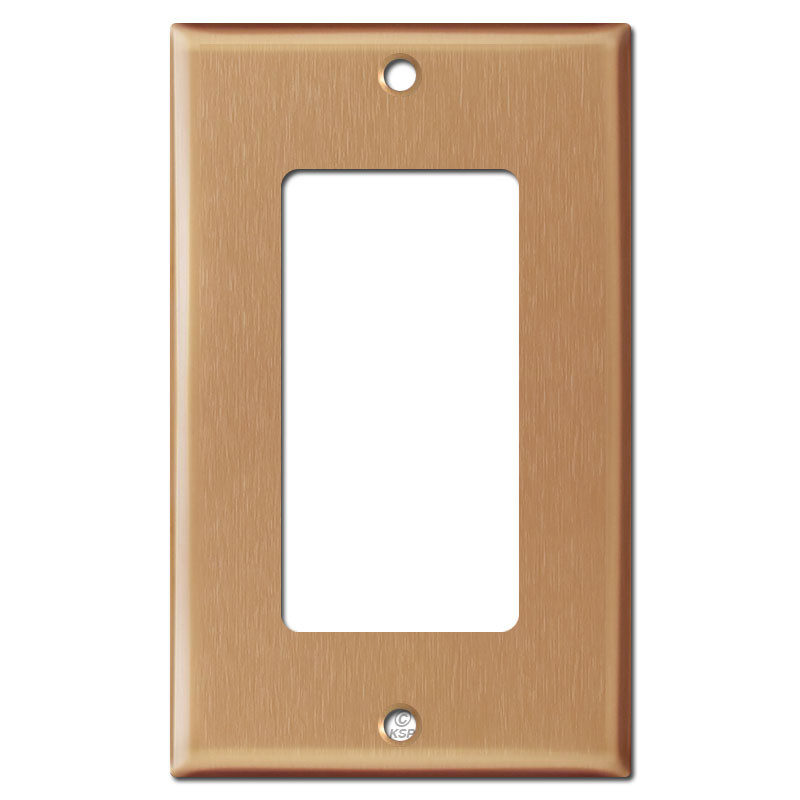 1 decor rocker electrical wall plate cover brushed copper