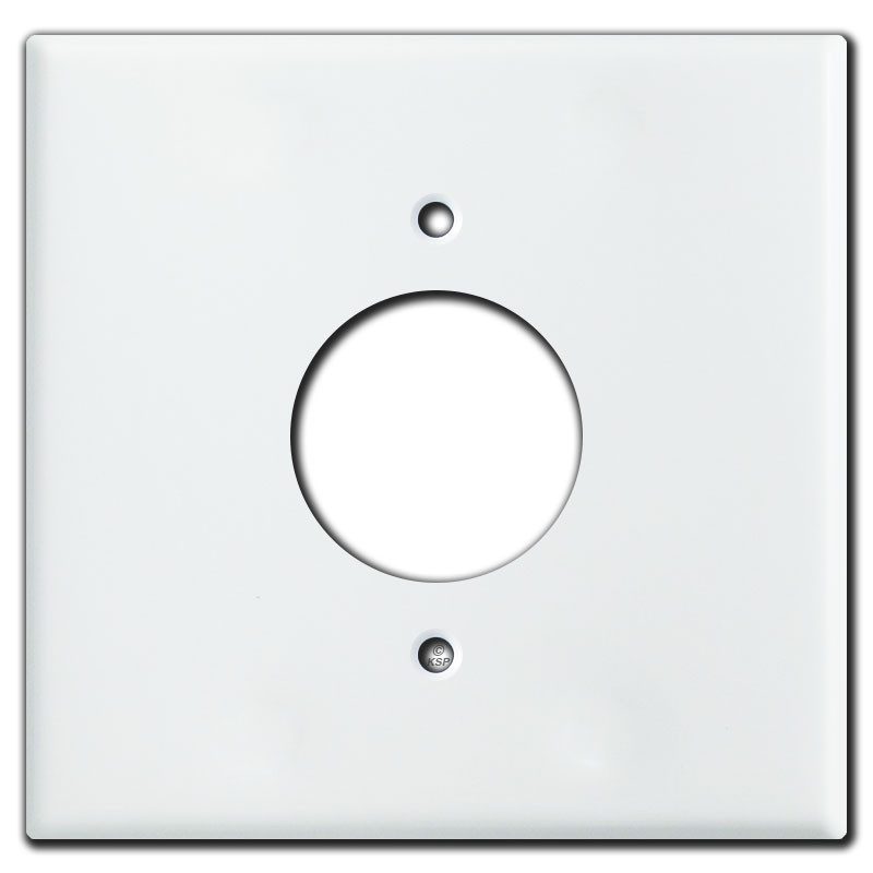 "White Electrical Outlet Covers Prepossessing Gang Middle 1.6"" 20A Electrical Outlet Cover  White Decorating Design"