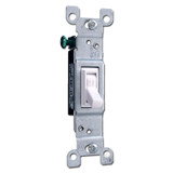 White Toggle Switch CO/ALR for Aluminum Wiring, Leviton