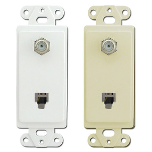 Pass & Seymour Coax Cable & Phone Jack Inserts