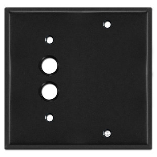 Pushbutton Blank Electrical Light Switch Cover - Black